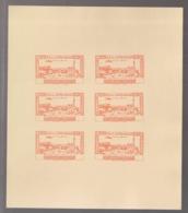 Grand Liban - 1944 - PA N°Yv. 82 - Congrès Médical - Bloc De 6 Essais Orange Sans Valeur - Non Dentelé / Imperf. - Gross-Libanon (1924-1945)