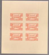 Grand Liban - 1944 - N°Yv. 187 - Congrès Médical - Bloc De 6 Essais Orange Sans Valeur - Non Dentelé / Imperf. - Gross-Libanon (1924-1945)