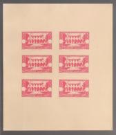 Grand Liban - 1944 - N°Yv. 187 - Congrès Médical - Bloc De 6 Essais Rouge Sans Valeur - Non Dentelé / Imperf. - Gross-Libanon (1924-1945)