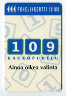 Telecarte °_ Finlande-109-Kaukopuhelu-12.95- R/V 5311 - Finland