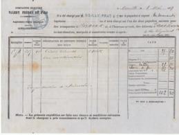 Connaissement Cie Maritime Valéry Frères & Fils Marseille Vermouth  -> Bordeaux 1879 - Verkehr & Transport