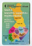 Telecarte °_ Finlande-Carte Indicatifs-12.98- R/V 9576 - Finnland