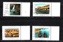 Iran  - 1992. Vedute: Cascata, Ponte, Barche, Città. Views: Waterfall, Bridge, Boats, City. Completre MNH Series - Geografia