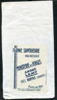 """Joli Sac Pour 1kg De Farine De Moulin """"Minoterie Des Forges / André Lamy Près Ruffec (Charente) Tissage De Lapugnoy - Other"""