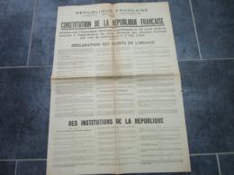 Constitution De La République Française - DECLARATION DES DROITS DE L'HOMME - Decrees & Laws