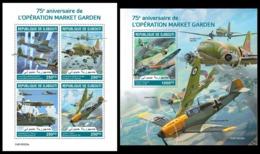 DJIBOUTI 2019 - Operation Market Garden, Planes. M/S + S/S Official Issue - Fallschirmspringen