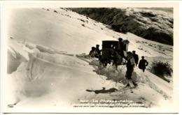 CPSM 9 X 14 Isère Le Chasse-neige Ouvrant La Route De L'ALPE D'HUEZ . CAP   Tank Chasse-neige - Autres Communes