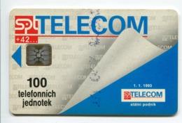 Telecarte °_ Tchéquie-100 TJ-Sc5an-SPT Telecom01.93- R/V 1327 - República Checa