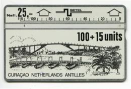 Telecarte Antilles Netherlands °_ Curaçao-100+15 Units-Nafl.25- R/V 259B ° TBE - Antille (Olandesi)