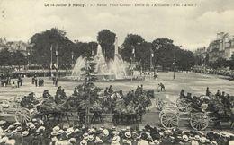 CPA Militaire - NANCY - Le 14 Juillet - Revue Place Carnot (90781) - Nancy