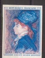 Série Artistique Auguste Renoir De 1968 YT 1570 Essai De Couleur Sans Trace De Charnière Cote 125 € - France