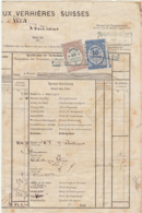 Lettre De Voiture JL Martin Verrières Suisse - Pontarlier- Bordeaux, Absinthe 1876 (3 Scans) - Verkehr & Transport