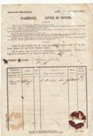 Lettre De Voiture Wyss Frères Suisse  Douane Bordeaux, 3 Montres Or 1873 (3 Scans) - Trasporti