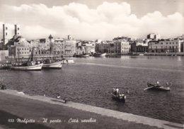 MOLFETTA - BARI - PORTO E CITTA' VECCHIA - PESCHERECCI E BARCHE - 1958 - Molfetta