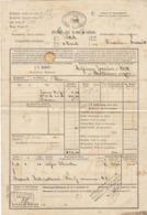 Lettre De Voiture JL Martin Verrières Suisse Bordeaux, Absinthe 1868 - Verkehr & Transport