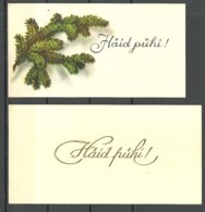 ESTLAND Estonia 1930ies  - 2 Gratulation Post Cards Weihnachten Christmas Noel - Estland