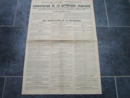 Constitution De La République Française - INSTITUTIONS DE LA REPUBLIQUE - Decrees & Laws