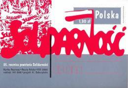 POLAND SOLIDARNOSC 2005 25TH ANNIVERSARY OF SOLIDARITY PRE-PRINTED POSTAL STATIONERY PC Trade Unions Fall Of Communism - Unclassified