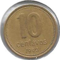 *argentina 10 Centavos 1993 Km 107    Xf+ - Argentinië