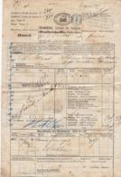 Lettre De Voiture Suisse Bale Genève Bordeaux Fromage 1871  (3 Scans) - Verkehr & Transport