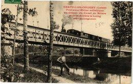 CPA CHATILLON-COLIGNY - Pont Avec Talier Metallique Canal (213047) - Chatillon Coligny