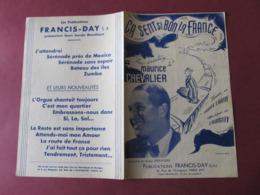 PARTITION - CA SENT SI BON LA FRANCE - MAURICE CHEVALIER / JACQUES LARUE / LOUIGUY - ED. FRANCIS-DAY. - Music & Instruments