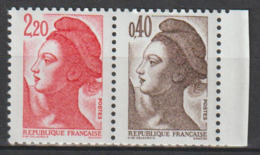 FRANCE : N° 2376b ** : 2376 + 2183 (Type Liberté) - PRIX FIXE - - 1982-90 Liberté De Gandon