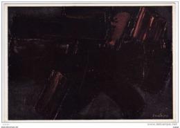 SOULAGES  Peinture 55X38 .   1957.   Collection Galerie De France. Paris    2 Scans TBE - Pittura & Quadri