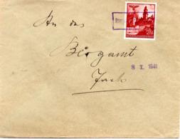 """(2WK-2) Generalgouvernement Besetzung Polen Brief EF Mi45 Landpost-Stempel """"Rzepiennik Strzyzewski"""" 8.X.1941 Nach Jaslo - Occupation 1938-45"""