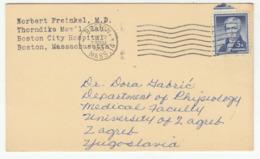 US Postcard Posted 1960 Boston To Yugoslavia B191003 - Verenigde Staten