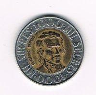 //  ECUADOR  1000 SUCRES  1996 - Equateur