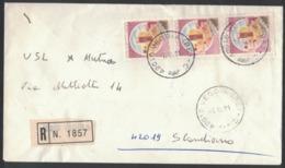 QS283   Storia Postale 1981 Racc.da Veggia Per Scandiano  Castelli £.300 X3 - 1981-90: Marcophilia