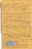 Lettre De Voiture Italie Bordeaux 1881 (défaut) - Verkehr & Transport