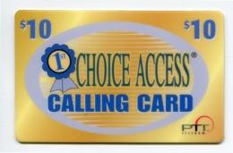 Telecarte Prépayée °_ Usa-First Access-$10-Calling PTT.1998- R/V 8080 - Andere