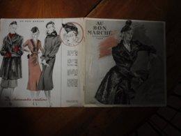 1937 AU BON MARCHÉ ---> Toilettes D'Hiver Et Fourrures - Vintage Clothes & Linen