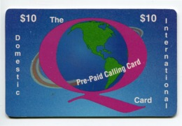 Telecarte Prépayée °_ Usa-QCI-Domestic Inter-$10- R/V 5290 - Andere