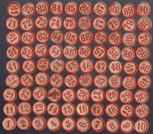 Ancien Jeu De Loto Complet Avec 90 Jetons En Bois Et 24 Plaques En Carton (Boys Scouts Loto) - Jeux De Société