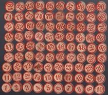 Ancien Jeu De Loto Complet Avec 90 Jetons En Bois Et 24 Plaques En Carton (Boys Scouts Loto) - Juegos De Sociedad
