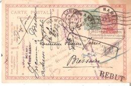 EP. Carte De NAMECHE Du 15/2/1921 Avec Diverses Réexpéditions - REBUT - Inconnu à L'appel Etc... - Postcards [1909-34]