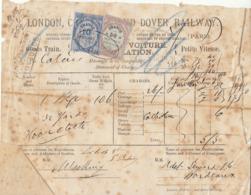 Lettre De Voiture London Chatham & Dover Railway  Bordeaux 1879 (2 Scans) - Verkehr & Transport