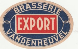 1 ETIKET VANDENHEUVEL BRASSERIE EXPORT - Beer