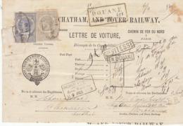 Lettre De Voiture  Londres, Chatham & Dover Railway -> Bordeaux  1873 - Verkehr & Transport