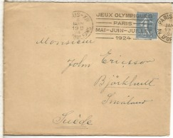 FRANCIA PARIS 1924 RARO MAT JUEGOS OLIMPICOS DE PARIS OLYMPIC GAMES - Summer 1924: Paris