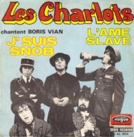 """LES CHARLOTS Chantent BORIS VIAN """"J'SUIS SNOB - L'AME SLAVE"""" DISQUE VINYL 45 TOURS - Vinylplaten"""