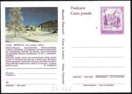 Austria/Autriche: Intero Stationery, Entier, Località Sciistica, Ski Resort, Station De Ski - Sci