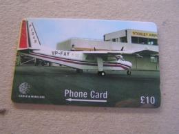Falkland Isles Used GPT  Card  275CFKB Aircraft At Stanley Airport - Falklandeilanden