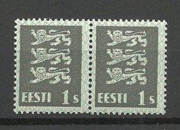 ESTLAND Estonia 1928 Michel 74 Thick Paper Type /Dicke Papiersorte Als Paar MNH - Estland