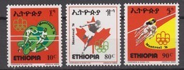 Ethiopia15.07.1976 Mi # 862-64 Montreal Summer Olympics MNH OG - Summer 1976: Montreal
