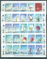 SOLOMON ISLANDS - MNH/** - 1987 - AMERICA'S CUP WINNERS COMPLETE SET 50 STAMPS - Yv 554-603  - Lot 20403 - Salomon (Iles 1978-...)