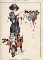 Nus - Femme - Les Masques De L'Amour -  Illustrateur HEROUARD (gravure) - Nus Adultes (< 1960)